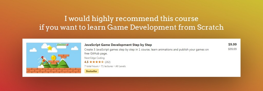 JavaScript Game Development Course from Udemy