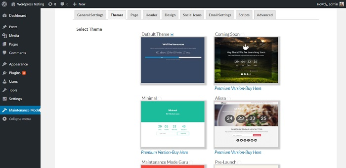 WP Maintenance Mode / Coming Soon Page Builder
