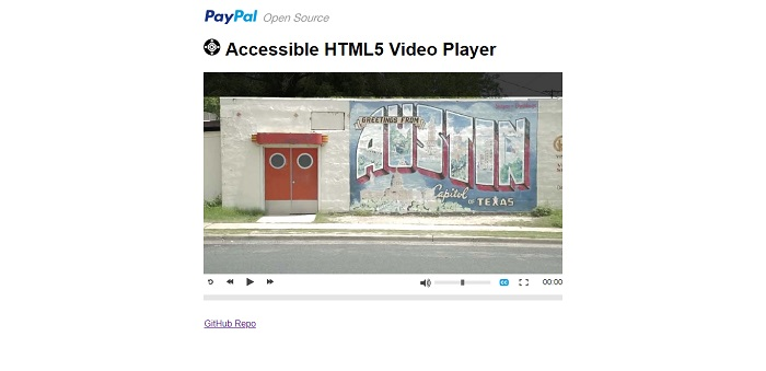 Accessible HTML5 Video Player