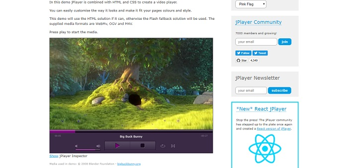 jPlayer - HTML5 Audio & Video for jQuery