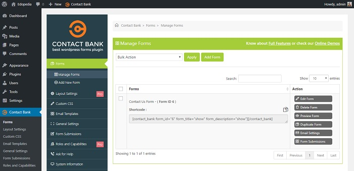 Contact Bank - WordPress Contact Form Builder