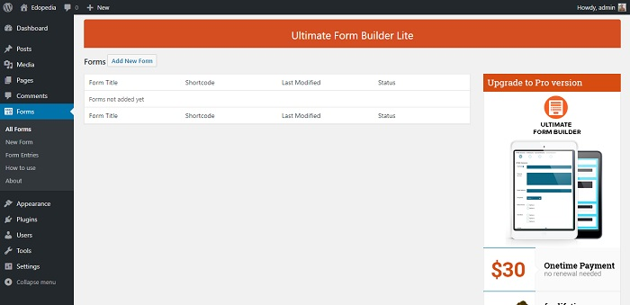 Contact Form for WordPress - Ultimate Form Builder Lite