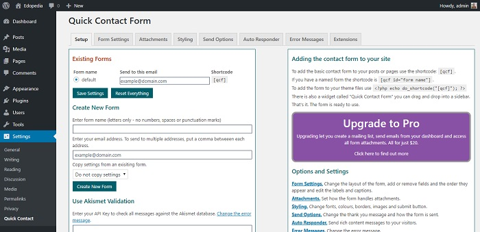 Quick Contact Form