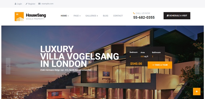 HouseSang - Impressive Single Property WordPress Theme