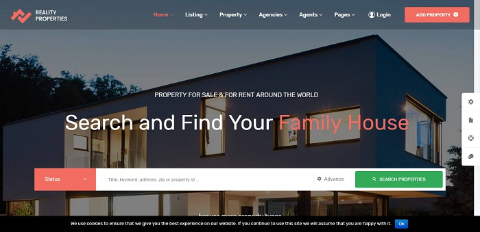 Reality - Real Estate WordPress Theme