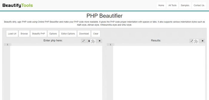 PHP Beautifier by BeautifyTools