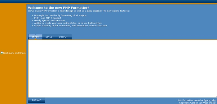 PHP Formatter by Spark Labs