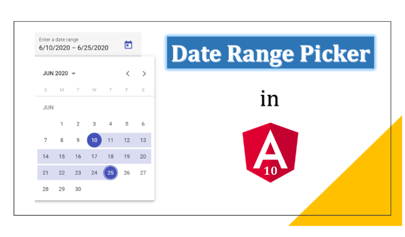 Angular 10 Date Range Picker